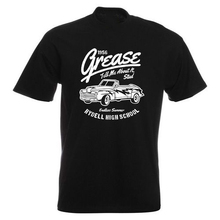 Grease Movie Mens PRINTED T-SHIRT Rydell High School Tell Me About It Stud Car  Cool Casual pride t shirt men Unisex New