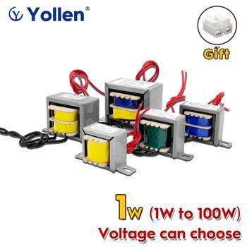 EI 1W Power Transformer 1VA Audio Voltage Customized 220V/380V/110V to 9V/12V/15V/18V/24V/110V Dual Output Isolation Copper DIY ring type 400w toroidal power transformer circle voltage can custom 220v 380v to 6v 9v 12v 15v 18v 24v face mask machine 400va