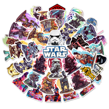 50 pcs/Pack Star Wars Anime Cartoon Car Motorcycle Phone Travel Luggage Trolley Laptop Computer Sticker Toy image