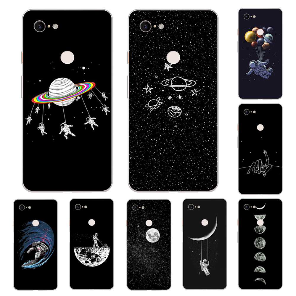 Case Moon Coque For Google Pixel 3 XL 2 XL 3A XL 4 XL Soft TPU Phone Cases For Pixel 2XL 3XL 4XL 3Axl Cover Funda Planet
