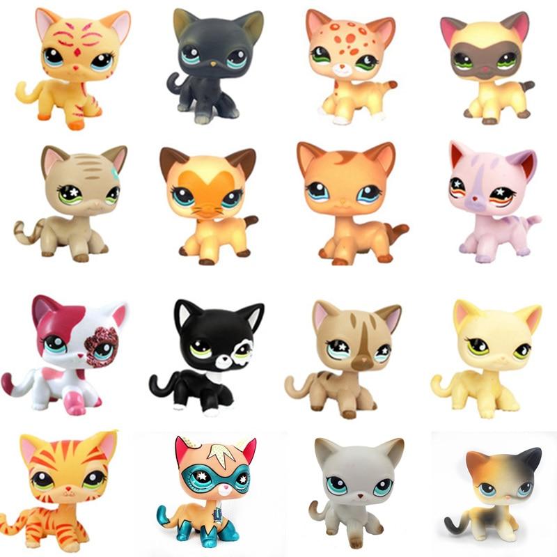 Одна штука Pet Shop lps Аниме Фигурка подставка для игрушки Бесплатная доставка маленькие короткие волосы кошка старая оригинальная Собака Такс...