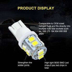 Image 4 - Safego 10 pçs w5w t10 194 168 led carro afastamento cunha bulbos 10 smd 1210 3528 interior do carro lâmpada luz da cauda branco 6000k dc 12v