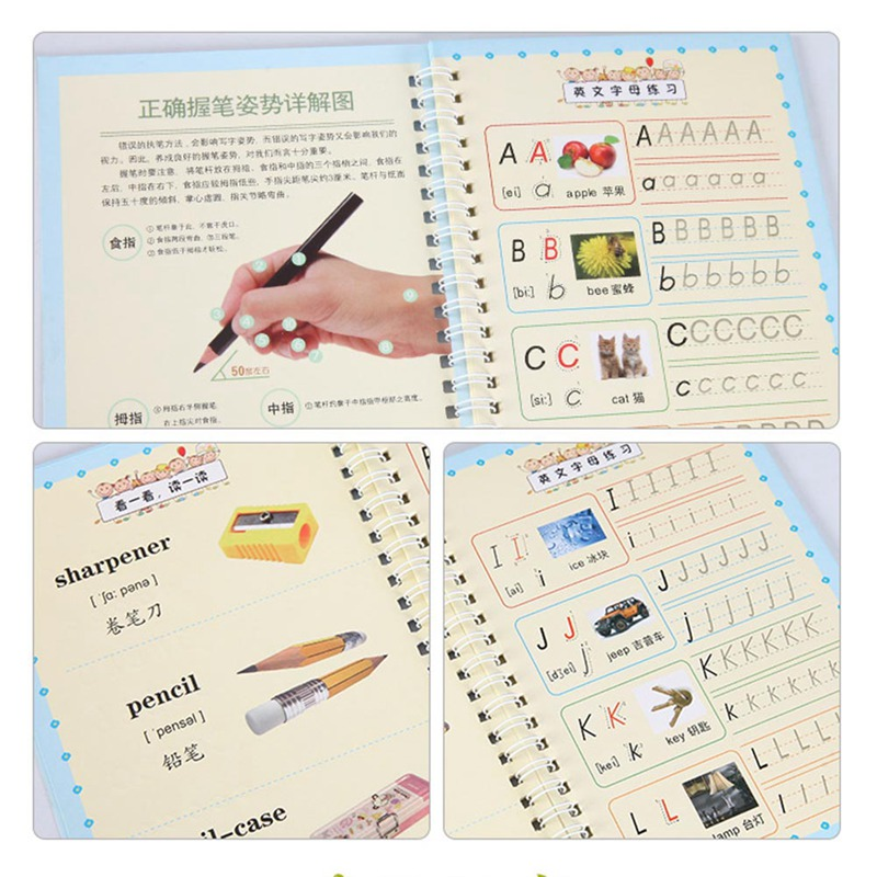 2020 Writing English Calligraphy Copybook For Adult Children Exercises Calligraphy Practice Word Book Libros Beginners Ltalic
