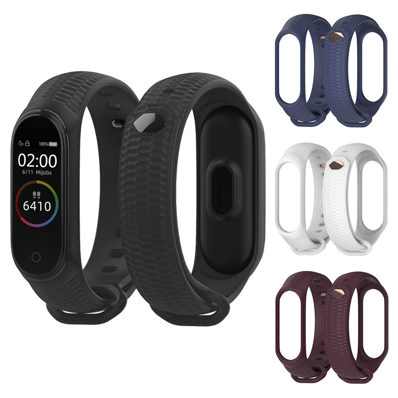 For Mi Band 4 Wrist Strap Silicone Band For Xiaomi Mi Band 3 Bracelet Miband 4 Wristband Straps Band3 Smart Watch Accessories