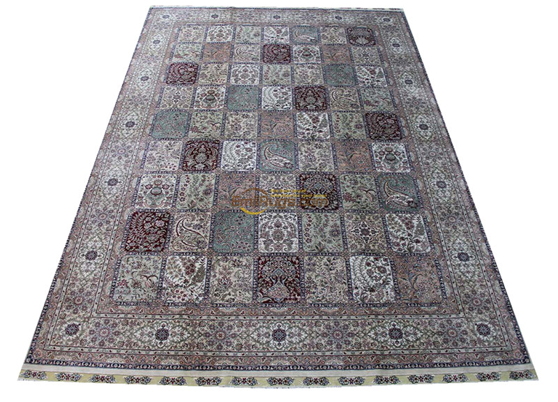 Silk Persian Rug Oriental Rugs Handwoven Carpets For Living Room Pattern    St-04026260l
