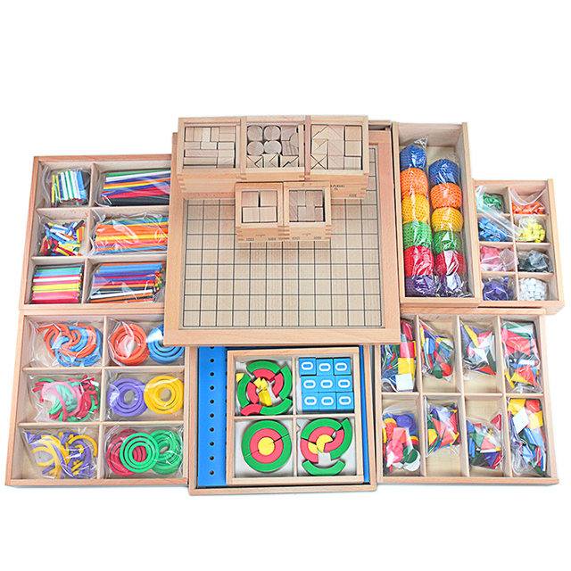 Baby Toys Froebel Teaching Aids 15 Sets Wood Box Teaching Tools Early Learning Educational Preschool Training Toys for Children