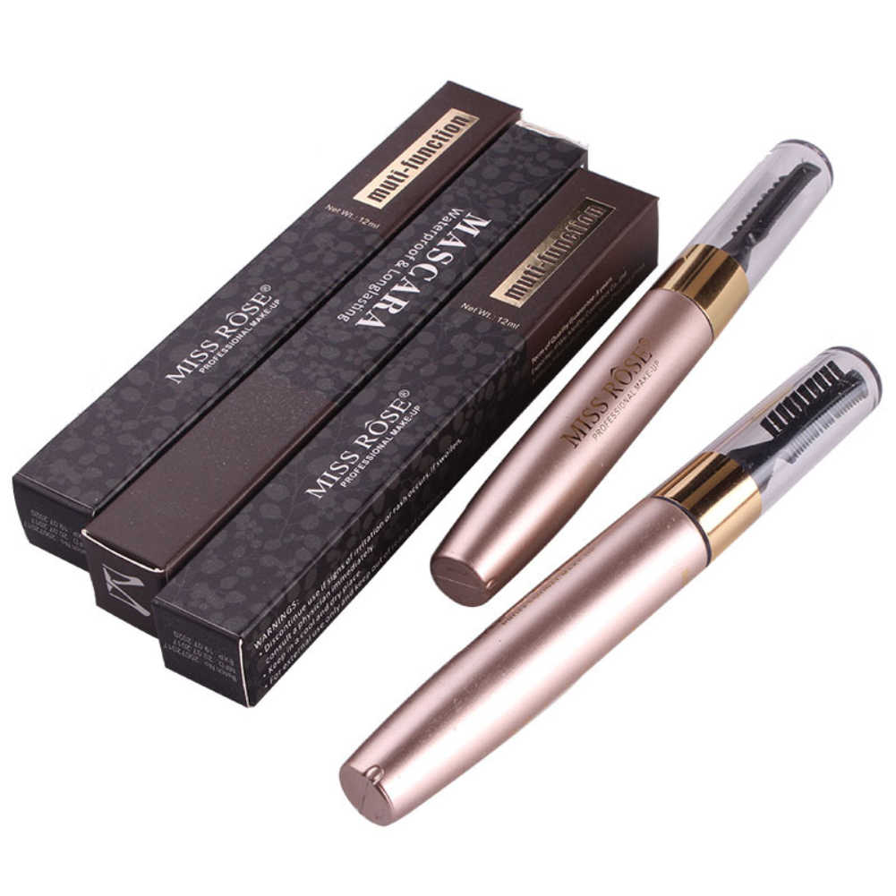 1Pc Sexy 3D Mascara noir Fiber longueur naturelle épais Curling Mascara Gel imperméable longue durée Extension de cils cosmétiques TSLM2