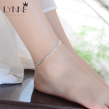 Hot Sale Sexy Beach Multilayer Snake Bones Anklets Foot Chain 925 Sterling Silver Foot Anklet Bracelet For Fashion Women Jewelry 1