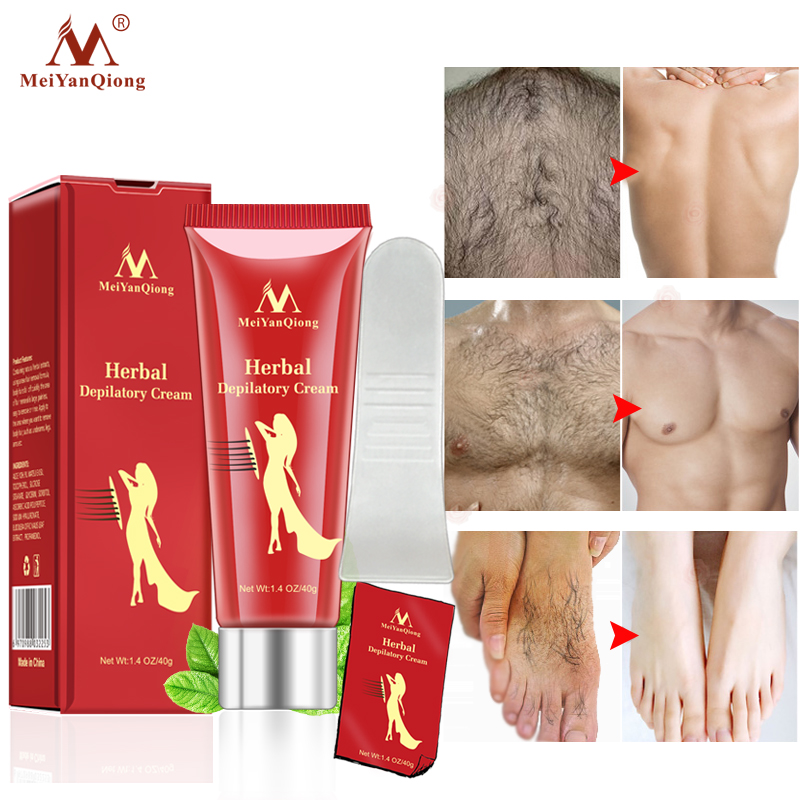 40G Female Male Herbal Depilatory Cream Hair Removal Painless Cream for Removal Armpit Legs Hair Body Care Shaving&Hair Removal image