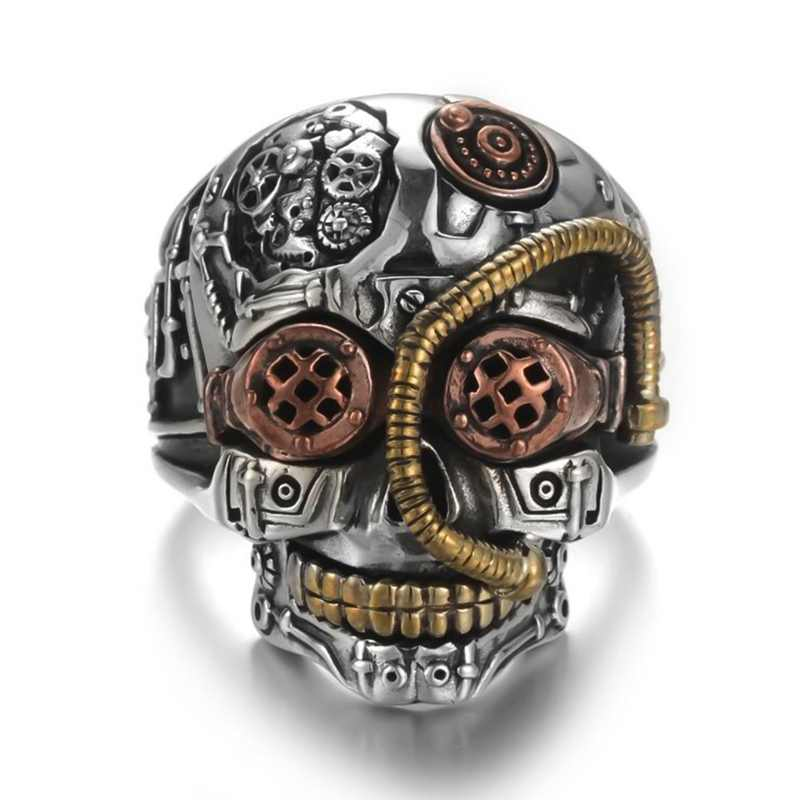 2019 Men Personality Stainless Steel Ring Men's Gothic Carving Skull Ring Jewelry For Gift