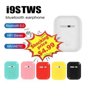 I9s TWS สีสันไร้สายมินิบลูทูธหูฟังไร้สายหูฟังสเตอริโอกีฬาชุดหูฟังบลูทูธ 5.0