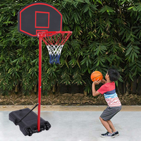 Basketball Stands Height Adjustable Kids Basketball Goal Hoop Training Set Basketball For Boys Outdoor/indoor Practice