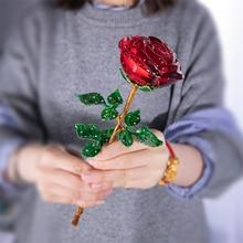 H & D Pha Lê Đỏ Hoa Hồng Hoa Tượng Hình Thủ Công Sinh Nhật Lễ Tình Nhân Ủng Hộ Xmas Quà Tặng Đám Cưới Nhà Trang Trí vật Trang Trí