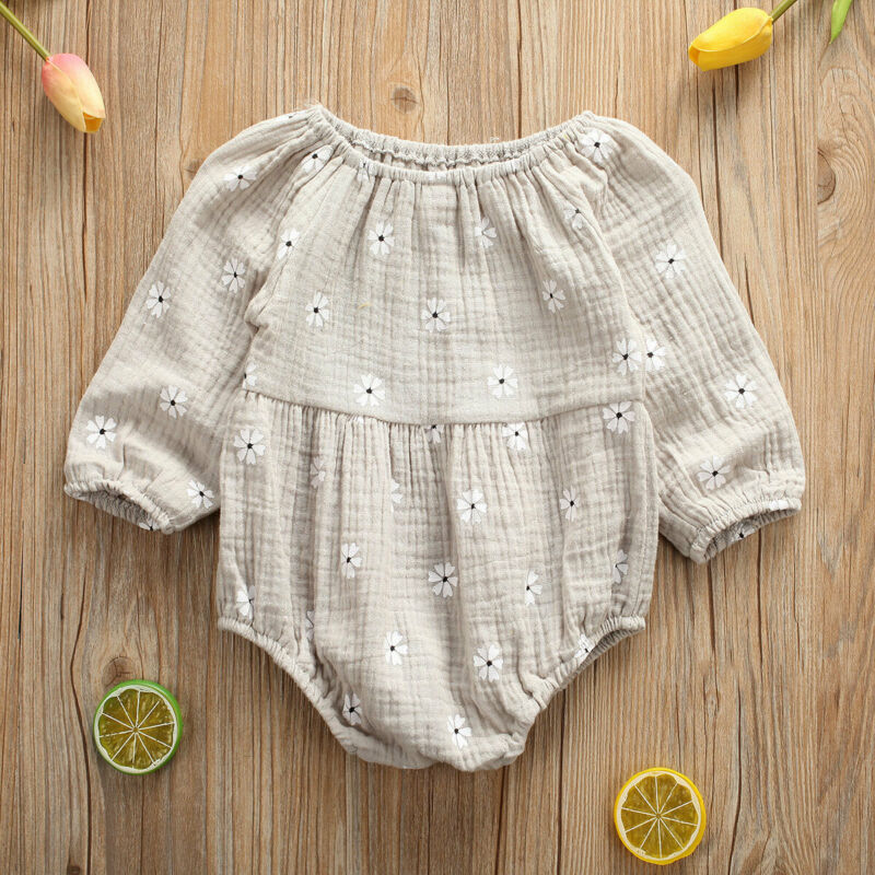 Infant Clothing Newborn One-Pieces Body Baby Girl Floral Bodysuits Clothes Outfit LOng Sleeve Bodysuit Playsuit