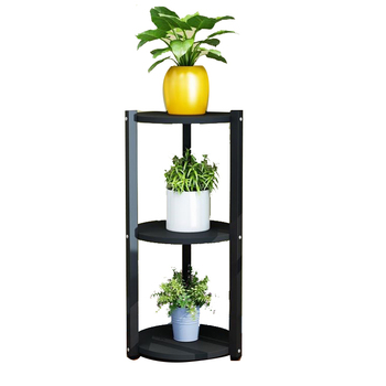 Multi-layer flower stand interior decoration space balcony   wrought iron living room  pot rack small
