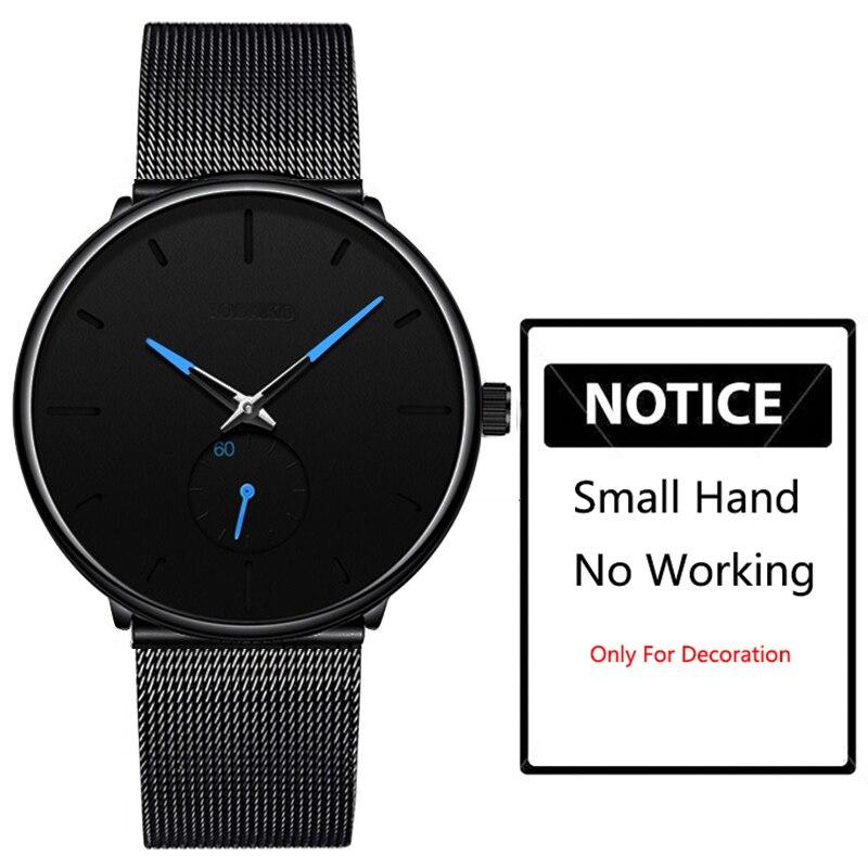 H71dae6eac1f0429ea724418cda808b9cB DONROSIN Men Casual Slim Black Mesh Steel Wrist Sport Watch Fashion Mens Watches Top Brand Luxury Quartz Watch Relogio Masculino
