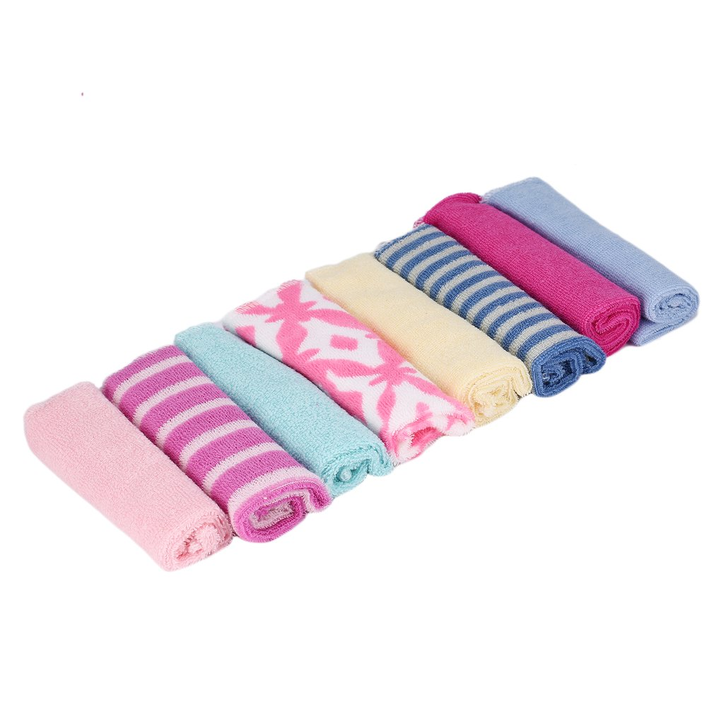 OUTAD Children Washcloth <font><b>Baby</b></font> <font><b>Feeding</b></font> <font><b>Baby</b></font> Face <font><b>Towels</b></font> Washers Hand Cute Cartoon Wipe Wash Cloth Cotton For <font><b>Feeding</b></font> Bathing Hot image