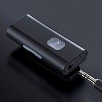 SR11 AUX 5,0 Audio Empfänger 3,5mm Jack Hände Freies Drahtlose Musik Adapter Mit Clip Unterstützung TF Karte für Auto lautsprecher