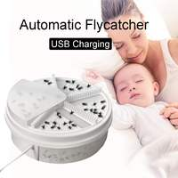 Electric Fly Trap Device USB Rechargeable Pest Device Insect Catcher Automatic Flycatcher Catching Insect Control Device|Traps|   -