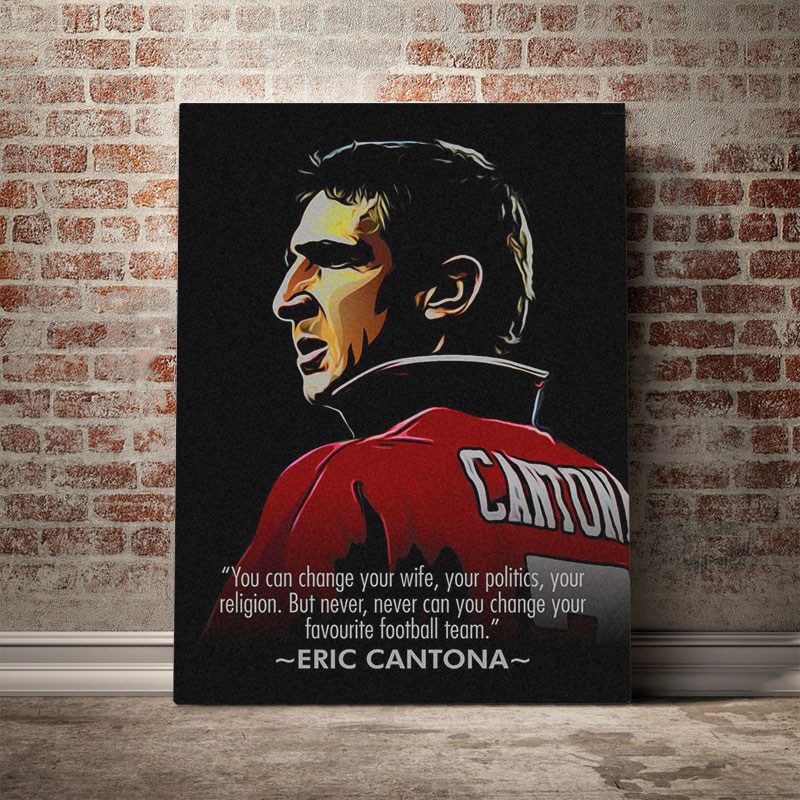 High quality eric cantona inspired art prints by independent artists and designers from around the world. Buy Eric Cantona Quotes Poster Canvas Wall Art Decoration Prints For Living Kid Children Room Home Bedroom Decor Painting Cicig