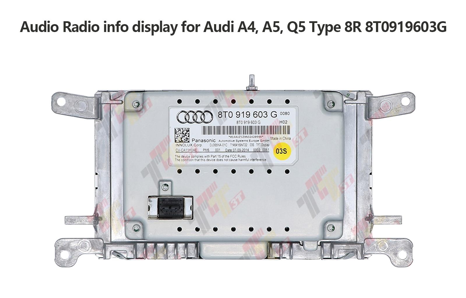 Monitor Info Dash Radio MMI LCD Display Screen for Audi A4 B8 A5 Q5 RS5 S4