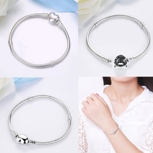 Image 5 - Authentic 100% 925 Sterling Silver Basic Snake Chain Bracelet & Bangles Fashion Jewelry WEUS902