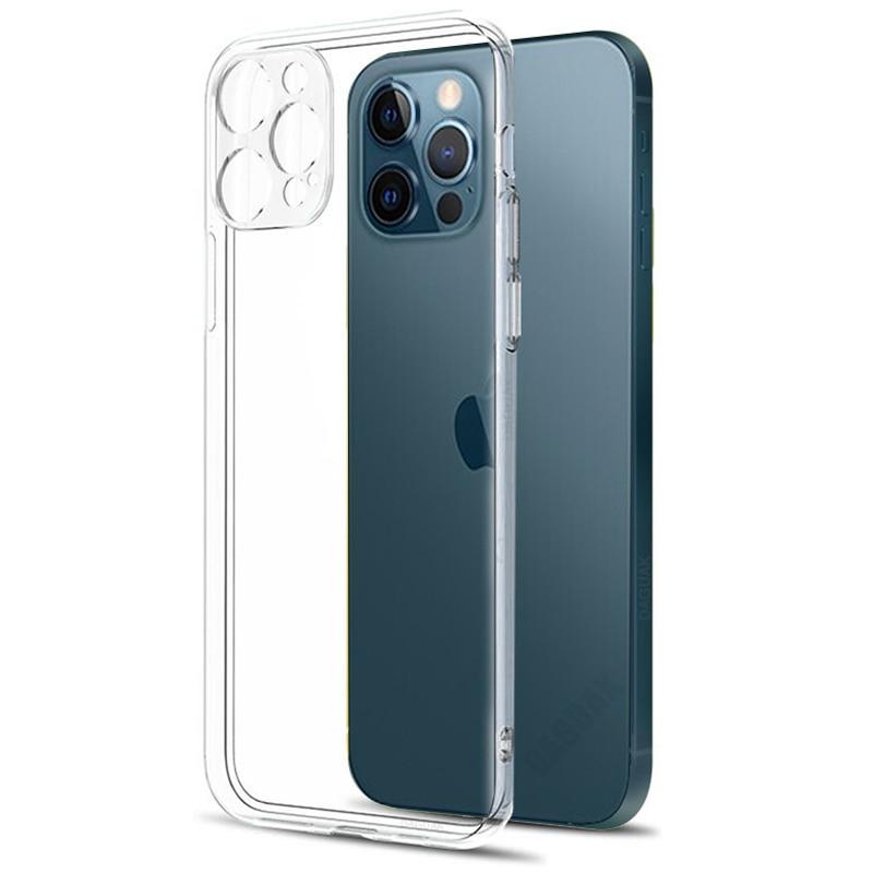 Защитный прозрачный чехол для объектива камеры для iPhone 12 Pro Max, силиконовый мягкий чехол для iPhone 12 Mini, противоударный чехол для задней панели,...