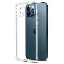 Proteção da lente da câmera clara caixa do telefone para o iphone 12 pro max silicone macio capa para o iphone 12 mini à prova de choque capa traseira presente
