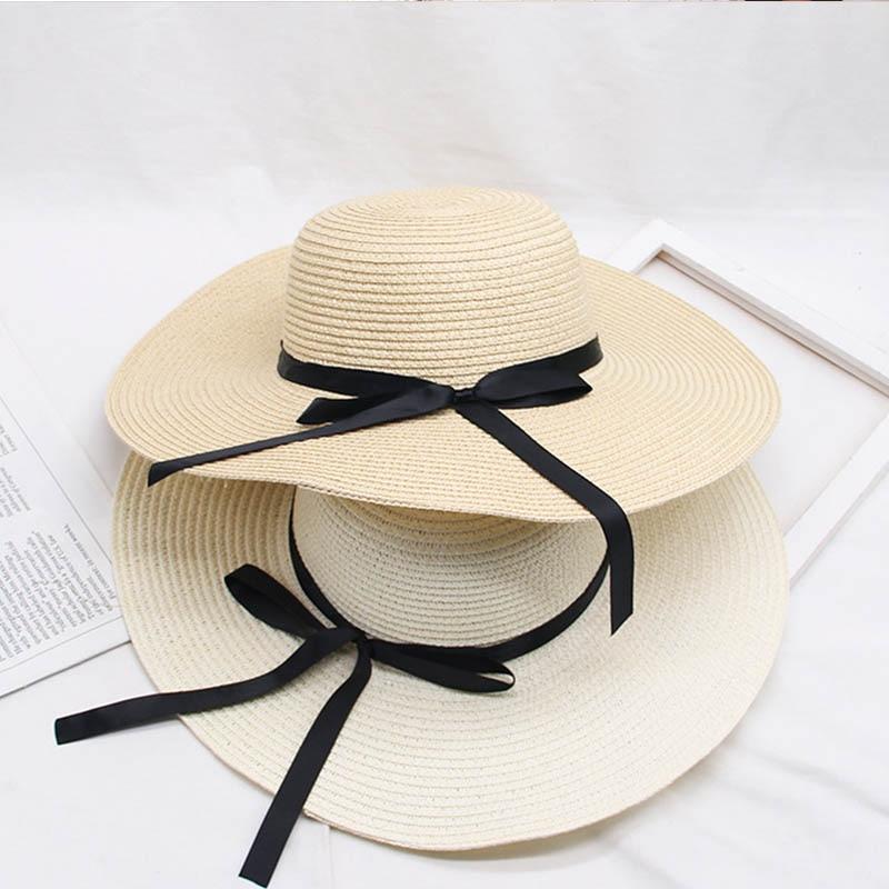 Women Brim Hats Summer Straw Hat Beach Sun Wide Brim Fashion Casual Women Sun Hats Foldable Sun Block UV Protection Panama Hat