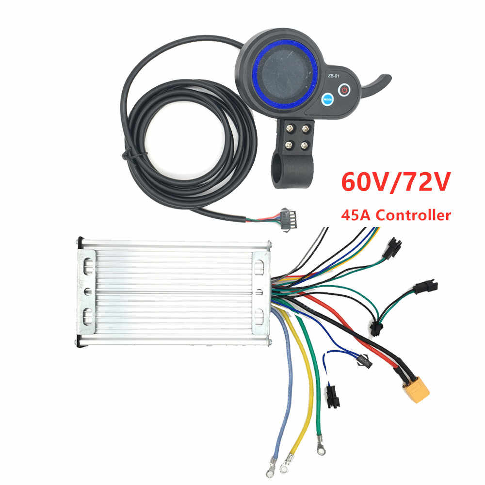 60V/72V 45A Controller Display Accelerator for Dual engines 3200w5600w 6000w 7000W electric scooter kickscooter mother board PCB
