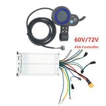 60v/72v 45a контроллер дисплей ускорителя для двух двигателей