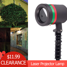 Outdoor Waterproof Garden Tree Moving Laser Projector LED Stage Light Christmas Lights недорого