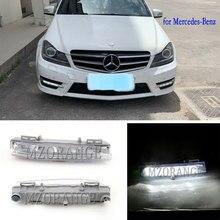 Автомобильный передний светодиодный DRL дневная ходовая лампа Светодиодный Противотуманные фары для Mercedes-Benz W204 W212 C250 C280 C350 E350 A2049068900 A2049069000