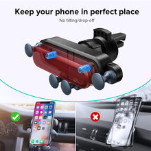 INIU Gravity Car Holder For Phone in Car Air Vent Clip Mount No Magnetic Mobile Phone Holder GPS Stand For iPhone XS MAX Xiaomi