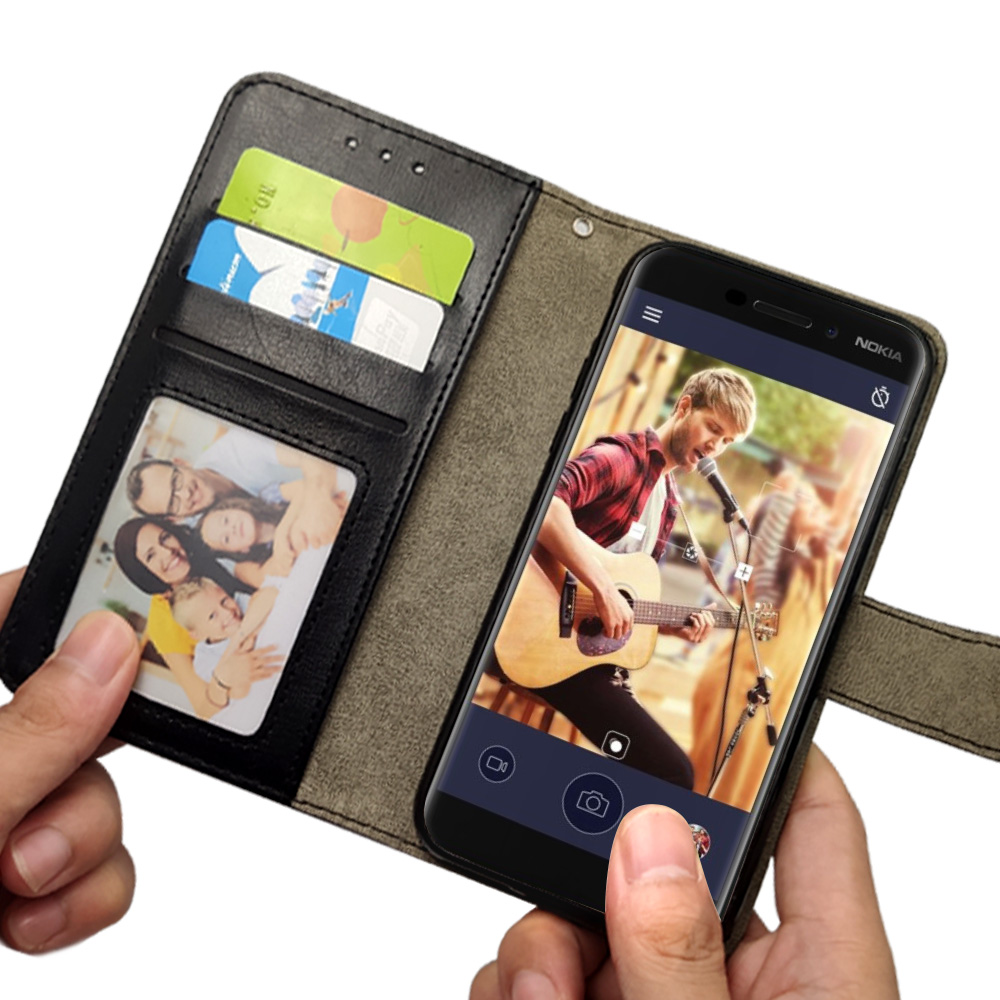 Luxury Leather Flip Case For Nokia 2 1 3 1 4 2 5 6 7 5 1 6 1 7 1 Plus Case Wallet Cover For Nokia 6 1 Card Slot Phone silicone