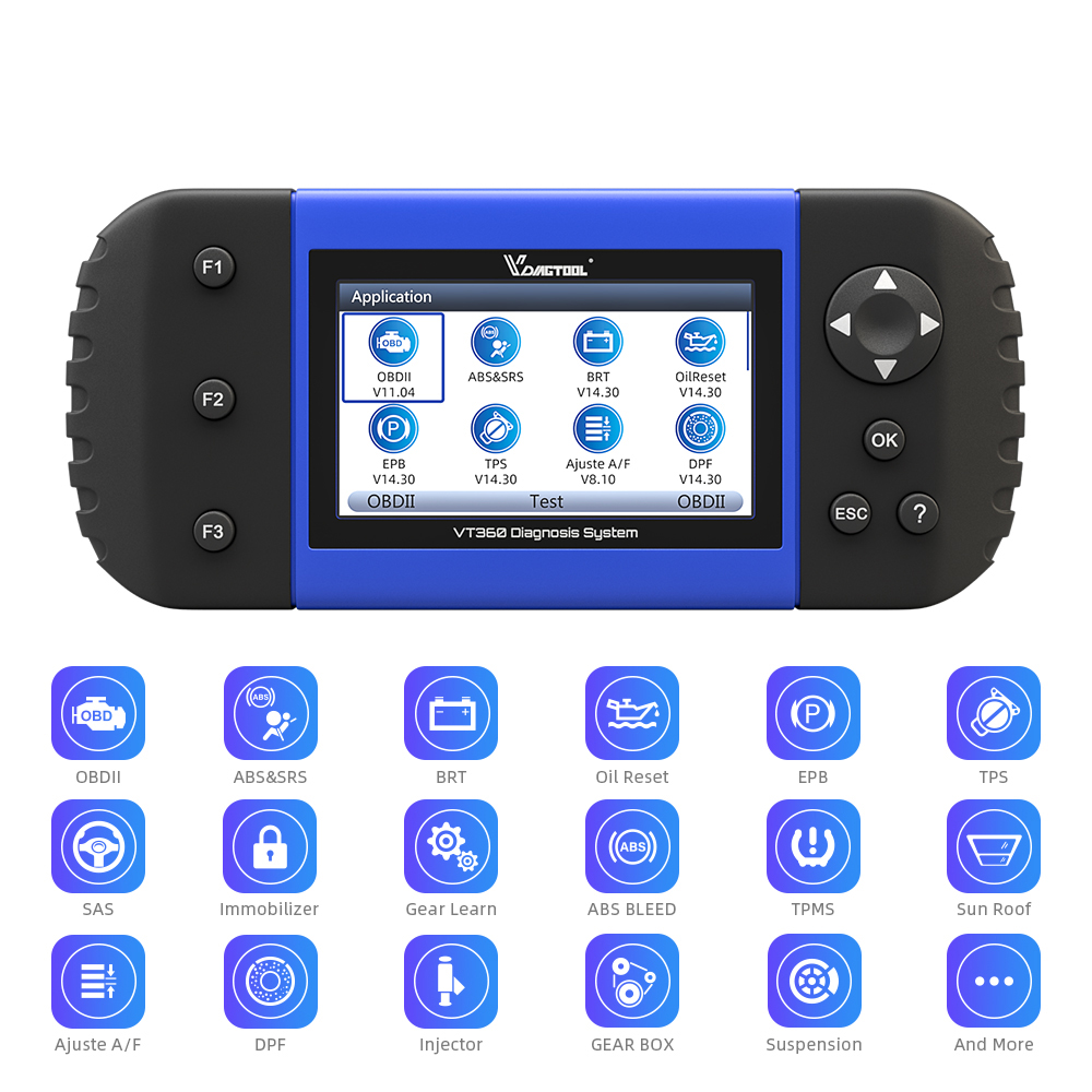 Image 3 - VDIAGTOOL Car Diagnostic VT600 OBD2 Scanner Tool working Brazil cars Engine ABS SRS EPB Coding OBD2 PK NT650 x100 pro crp129E-in Air Bag Scan Tools & Simulators from Automobiles & Motorcycles on