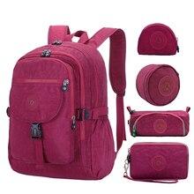 ACEPERCH Casual School Bag Waterproof Nylon Brand Laptop Bac
