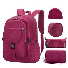 ACEPERCH Casual Waterproof Nylon Backpack for Women Travel Backpacks Female School Bag for Teenage Girls Book Mochilas