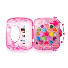 1Set Children Pretend Makeup Game Toys Hair Dryer Lipstick Girl Play House Makeup Handbag Toy Simulation Drama Props Kids Gifts grenade props ammo game bomb launcher blast replica military military black simulation hand gags pranks toy kids gifts