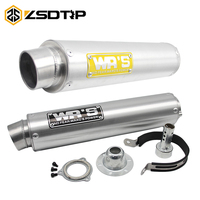 ZSDTRP Motorcycle Exhaust Pipe For WRS Universal Exhaust Muffler for CB400 CBR250 CBR29 ZXR XJR400 VFR400 FZR400 Pit Bike
