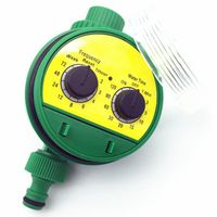 1 Pc English Electronic Intelligence Garden Irrigation System Timer Controller Water Programs Connection G3 / 4 Thread Faucet|Garden Water Timers| |  -