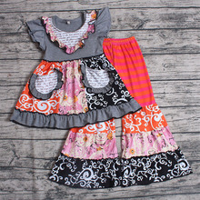 2019 Summer Kids Clothing Toddle Clothes Girl Plaid Dress Top+Pants Leggings Outfits Set