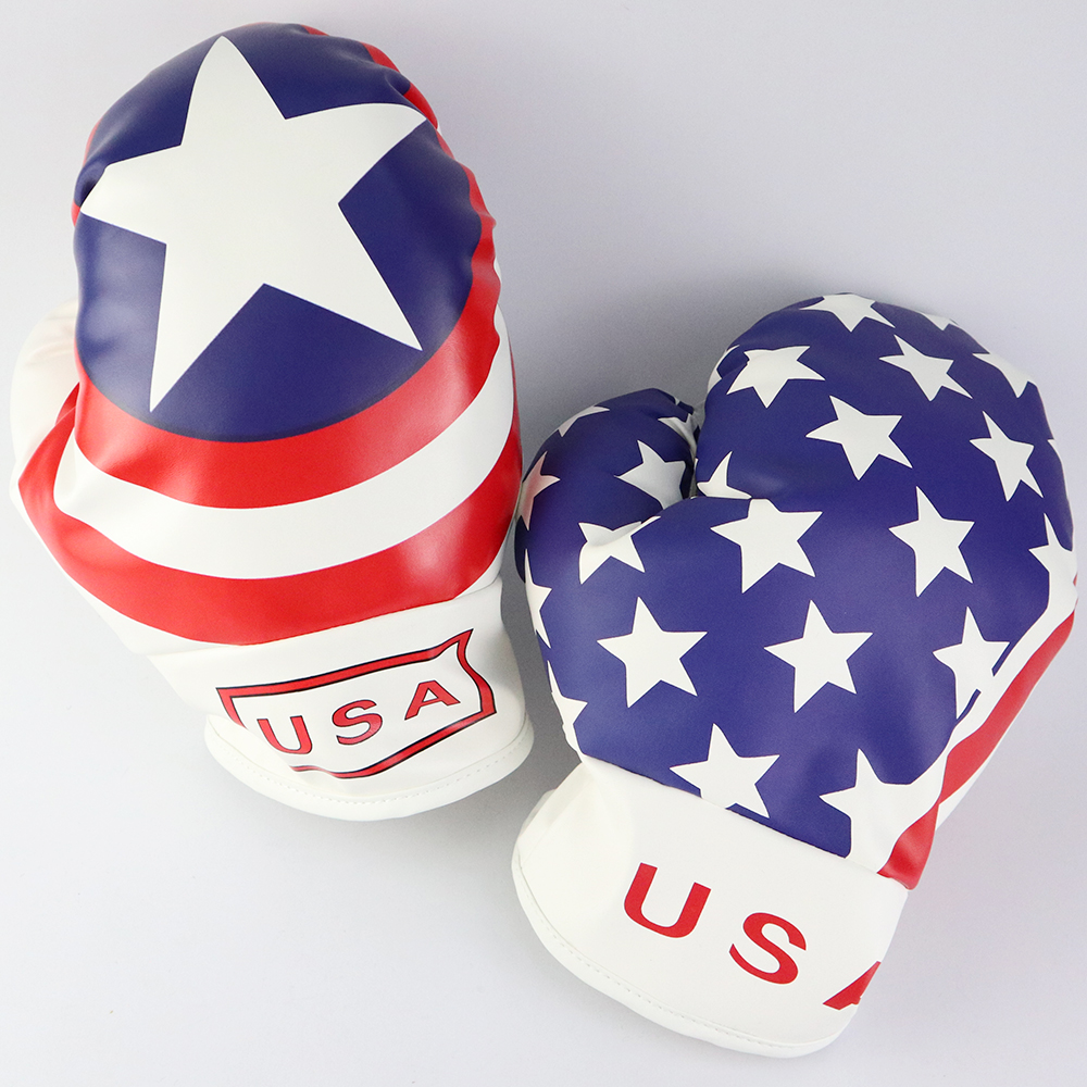 Golf Club Head Cover For Driver Fairway USA Flag Boxing Glove Headcovers Golf Club Protector