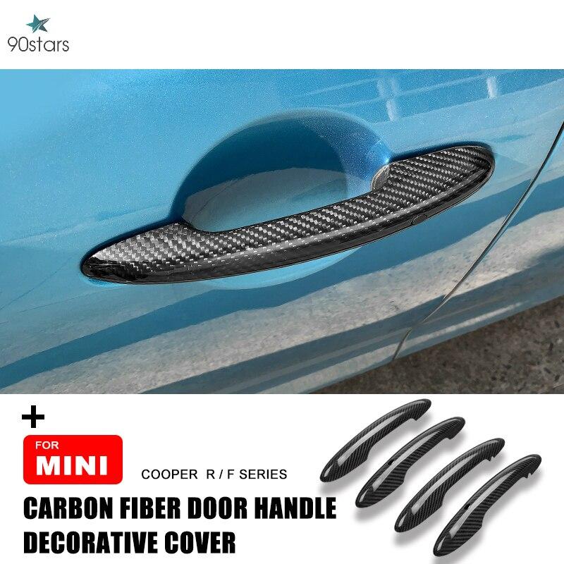 For Mini Cooper F55 F56 F54 F60 R55 R56 R60 Countryman Clubman Carbon Fiber Door Handle Cover Protective Case Accessories JCW