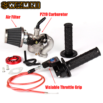 PZ19 19 mmcarburador junta de tubo de admisión agarre de acelerador ajustar Cable filtro de aire para 50cc 70cc 90cc 110cc Pit bicicleta ATV Quad Go Kart