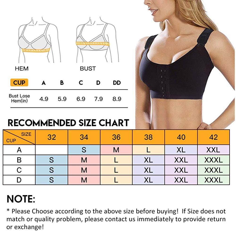 Burvogue Bras Women Seamless Padded Push Up Post-Surgery Bra Front Closure Brassiere Sexy Bra Underwear Gather Adjustable Bras