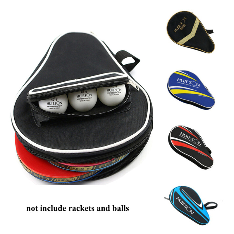 Table Tennis Rackets Bag For Training Professional Ping Pong Case Dust-proof Zipper Steel Ring Ping Pong Bat Storage Pounch