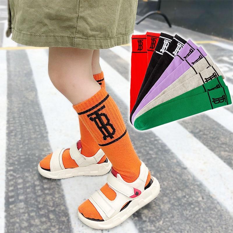 Children Tube Socks Fashion Socks Autumn And Winter Lettered Hose South Korea Men And Women Child Parent And Child Cotton Socks