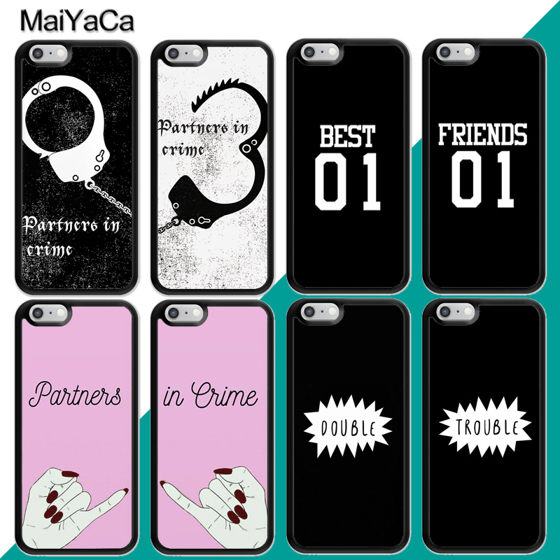 MaiYaCa partners in crime Best Friend BFF Matching Case For iphone 11 Pro Max X XR XS MAX SE 2020 6S 7 8 Plus 5S Cover(China)