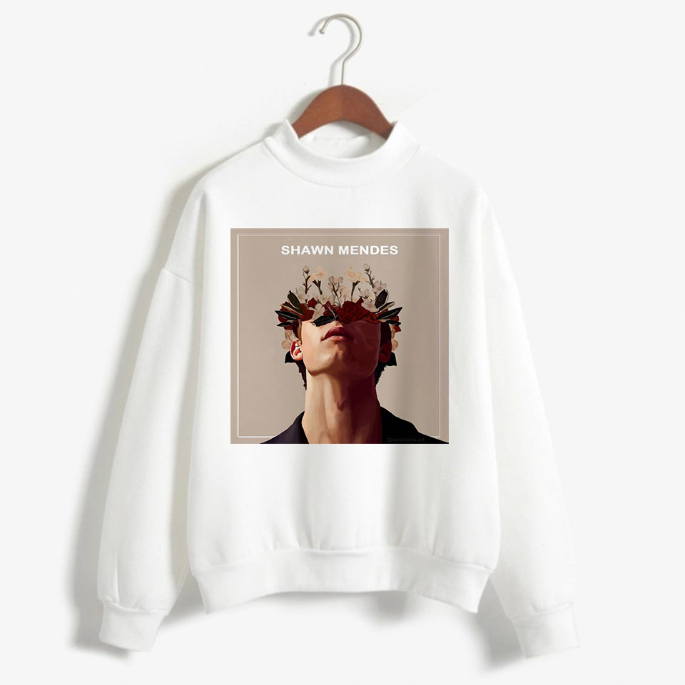 BTFCL Shawn Mendes Hoodie Sweatshirt Women Harajuku Print Streetwear Hoodies Cotton Fleece 90s Idols Pullovers Hoody Female in Hoodies amp Sweatshirts from Women 39 s Clothing